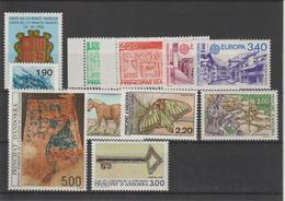 Andorre Français Année Complète 1987 Du 355 Au 365 11 Val. ** MNH - Años Completos