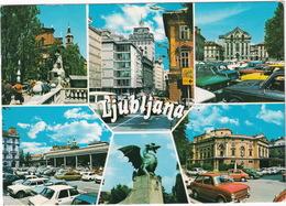 Ljubljana: RENAULT 12, 2x OPEL KADETT B, FORD TAUNUS TC1 TURNIER, SIMCA 1501, 1100, FIAT 850, VW 1200 - (Slovenia, YU.) - Toerisme