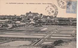 Rare Cpa Guérande Vue Générale De Saillé Les Marais Salants - Guérande