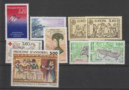 Andorre Français Année Complète 1989 Du 376 Au 384 9 Val. ** MNH - Volledige Jaargang