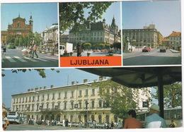 Ljubljana: RENAULT 9, 4, YUGO 45, AUTOBUS/COACH, TAXI'S - Zelezniska Postaja - (Slovenia, YU.) - Toerisme