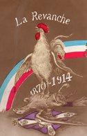"CP- "" Coq ,  Terrassant L'emblême All..""- -""  La Revanche-""..- - Guerre 1914-18"