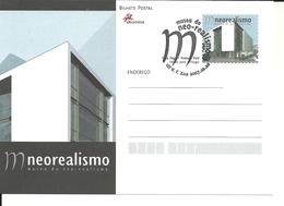 Portugal 2007 - Postal Stationery Neorealism Museum - Vila Franca De Xira, First Day Cancel - Postwaardestukken