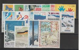 Andorre Français Année Complète 1993 Du 426A Au 440 11 Val. + 2 Trypt. ** MNH - Volledige Jaargang