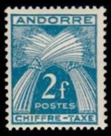 TIMBRE ANDORRE.FR - 1943 - NR TAXE 26 - NEUF - Nuevos