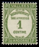 TIMBRE ANDORRE.FR - 1935 - NR TAXE 16 - NEUF - Nuevos