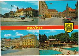 Maribor: VW 1200 KÄFER/COX, WARTBURG 353, KOMBI, OPEL KADETT B - Piscine/Swimmingpool - (Slovenia, YU.) - Passenger Cars