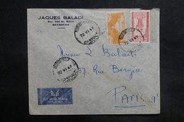 LIBAN - Affranchissement De Beyrouth Sur Enveloppe Commerciale Pour La France En 1947 - L 35480 - Lebanon