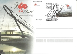 Portugal 2007 - Postal Stationery 50 Years Galitos Philatelic Department. Aveiro, Bridge Fdc - Interi Postali