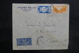 LIBAN - Affranchissement De Beyrouth Sur Enveloppe Commerciale Pour La France En 1947 - L 35481 - Lebanon