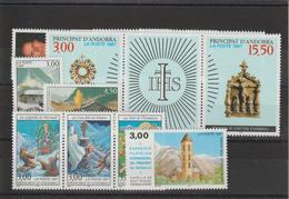 Andorre Français Année Complète 1997 Du 484 Au 496 8 Val. + 2 Trypt. ** MNH - Andorra Francese