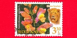 ROMANIA - Usato - 2012 - Flora E Fauna - Fiori - Leone - Antirrhinum Majus (Common Snapdragon) - 3.30 L - 1948-.... Repubbliche