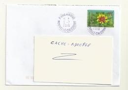 ADHESIF DU CARNET  2015  FLEURS DE NOUVELLE CALEDONIE SUR LETTRE OBITERATION CACHET ROND PROPRE - Used Stamps