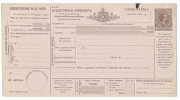 BOLLETTINO DI SPEDIZIONE DA 75 CENT. NUOVO - SPL. - 1878-00 Umberto I