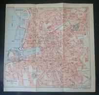 CARTE PLAN 1934 N° 453 - 22,5 X 23 Cm - MARSEILLE - BASSINS GARE MARITIME D'ARENC Du LAZARET De La JOLIETTE VIEUX PORT - Topographical Maps