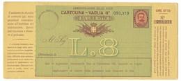 BOLLETTINO VAGLIA NUOVO DA 8 LIRE - DA PORTO MAURIZIO. - 1878-00 Umberto I