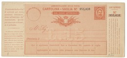BOLLETTINO VAGLIA NUOVO DA 15 LIRE - DA VICENZA. - 1878-00 Umberto I
