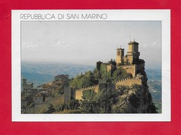 CARTOLINA VG SAN MARINO - Prima Torre - 10 X 15 - ANN. 1994 MONDIALI DI CALCIO - San Marino