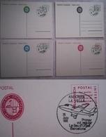 ANDORRA ANDORRE VEGUERIA EPISCOPAL TARJETA ENTERO POSTAL PRIMER VUELO SEO DE URGEL BARCELONA 1982 - Stamps