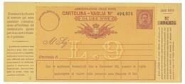BOLLETTINO VAGLIA NUOVO DA 9 LIRE - DA OSPEDALETTI ( PORTO MAURIZIO ). - 1878-00 Umberto I