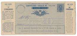 BOLLETTINO VAGLIA NUOVO DA 20 LIRE - DA OSPEDALETTI ( PORTO MAURIZIO ). - 1878-00 Umberto I