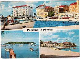 Porec: OPEL REKORD A, VW T2-BUS, SIMCA 1000, MERCEDES O 319, ZASTAVA 600 - Boats - (Croatia, YU.) - Toerisme