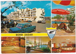 Borik - Zadar: FIAT 125S, FORD ESCORT, PEUGEOT 504, OPEL GT A, KADETT B, MERCEDES W115, RENAULT 6, 16 - (Croatia, YU.) - Toerisme