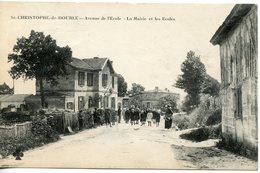 1417. CPA 33 ST CHRISTOPHE DE DOUBLE. ENTREE DU BOURG 1910 - Sonstige Gemeinden