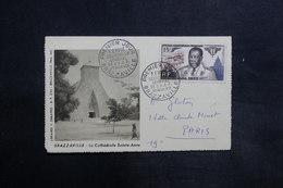 A.E.F. - Oblitération FDC Sur Carte Lettre Touristique De Brazzaville En 1955 - L 35510 - Briefe U. Dokumente