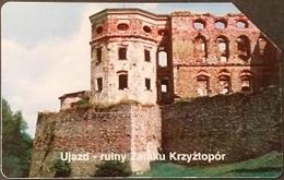 Telefonkarte Polen - Ujazd - Ruine Schloss Krzyżtopór - Poland
