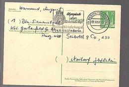 1957 Berlin Spandau  MiP36 'OLYPMPIADE DER KAMERADSCHAFT Weltfrontkämpferkongress' > Seibold Nortorf  (223) - Postkarten - Gebraucht