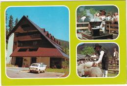 Jezersko 906 M: ZASTAVA 1100 - Garni Hotel 'Planinka' - Sheep - (Slovenia, YU.) - Toerisme