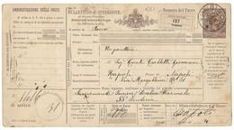 DA FROSINONE A NAPOLI - 17.10.1890. - 1878-00 Umberto I
