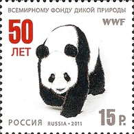 Russia 2011 WWF W.W.F. Panda Big Cats Animals Mammals World Wildlife Fund Organizations Fauna Nature Stamp MNH - W.W.F.
