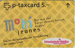 SUISSE - PHONE CARD - TAXCARD-PRIVÉE *** ASSURANCES - MOBIJEUNES *** - Svizzera