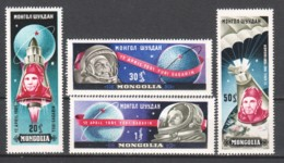 Mongolia 1961 Mi 221-224 MNH SPACE EXPLORATION - ASTRONAUTS - Espacio