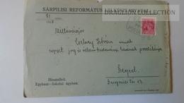 ZA214.11 Hungary  Cover  - SÁRPILIS -Ref. Egyh. L.H.  1940  - To Dr.Csekey István Egy. Prof. Genealogy Correspondence - Lettere