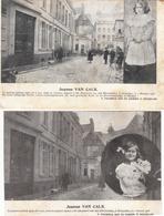 JEANNE VAN CALK - 2 CARTE POSTALE DE LA PETITE FILLE ASSASSINÉE - Brussels (City)