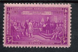 802643660 1937 SCOTT 798 POSTFRIS MINT  NEVER HINGED EINWANDFREI (XX)  CONSTITUTION SESQUICENTENNIAL ISSUE - Etats-Unis