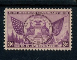 802644131 1935 SCOTT 775 POSTFRIS MINT  NEVER HINGED EINWANDFREI (XX)  MICHIGAN CENTENARY ISSUE - Etats-Unis
