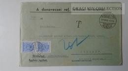 ZA214.15 Hungary   Cover  - DUNAVECSE  Ref. Lelk.hiv.  PORTO Postage Due - To Dr.Csekey István Egy. Prof. Genealogy C. - Lettere