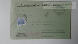 ZA214.16 Hungary Cover - DUNAVECSE Ref. Lelk.hiv. PORTO Postage Due - To Dr.Csekey István Egy. Prof. Genealogy Pécsvárad - Lettere