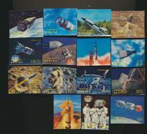 ESPACE  SPACE  Lot De 15 Timbres 3 D Plastic Stamps MHX - Collections