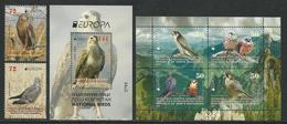 "MACEDONIA /NORTH-MACEDONIA /MAKEDONIEN -EUROPA 2019 -NATIONAL BIRDS.-""AVES -BIRDS -VÖGEL-OISEAUX""-SERIE+ BF+ PANE CARNET - 2019"