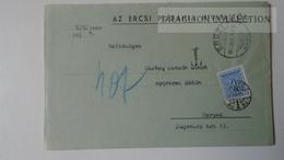 ZA214.19 Hungary Cover - ERCSI Plébánia - 1939  PORTO Postage Due - To Dr.Csekey István Egy. Prof. Genealogy Pécsvárad - Lettere