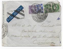 1940 - ENVELOPPE Avec CENSURES De ST ANTHEME (PUY DE DOME) => N'KONGSAMBA (CAMEROUN) - Marcophilie (Lettres)