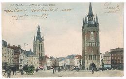 Courtrai - Beffroi Et Grande Place - Kortrijk