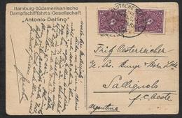1922 - DR - AK DEUTSCHE SEEPOST - HAMBURG SÜDAMERIKA LINIE - Nach Argentinien + Photokarte Alfonso Delfino Mallorca - Briefe U. Dokumente