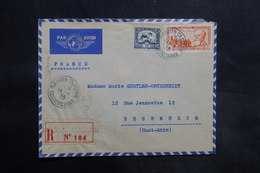 INDOCHINE - Enveloppe De Saïgon En Recommandé Pour La France En 1939 , Affranchissement Plaisant - L 35540 - Lettres & Documents