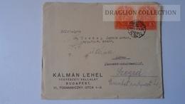 ZA216.2 Hungary Cover - KÁLMÁN LEHEL - 1938   To Dr.Csekey István Prof. Szeged/Pécs Genealogy  Correspondence -Documents - Lettere